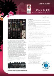 Professional 4ch Digital DJ Mixer