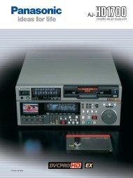 DVCPRO HD-EX Studio VTR