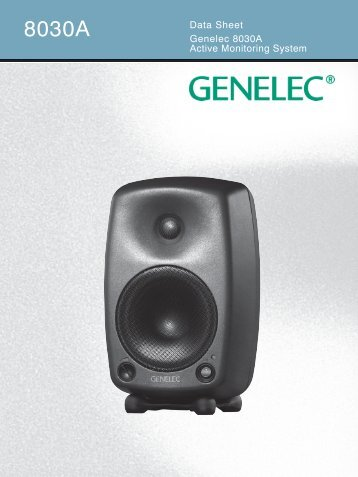 8030A Data Sheet - Genelec