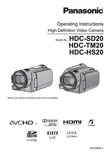 HDC-TM20 HDC-HS20