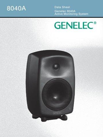 8040A datasheet.indd - Genelec