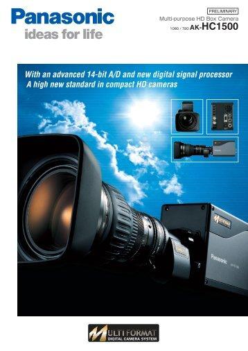 Page 1 PRELIMINARY Multi-purpose HD Box Camera 1080 / 720 ...