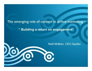 "The emerging role of content in airline marketing – "" Building a ..."