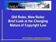 2001 Conference & Educational Workshops