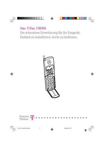 BDA Telekom T-Fax CM300 DECT-Telefon deutsch - Fax-Anleitung.de