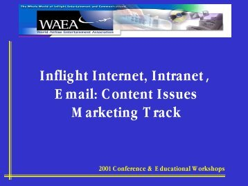 2001 Conference & Educational Workshops - APEX, Airline ...