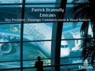 Patrick Brannelly, Emirates - APEX, Airline Passenger Experience ...