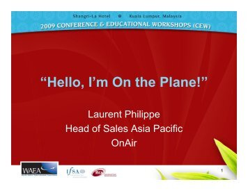 Laurent Philippe - APEX, Airline Passenger Experience Association
