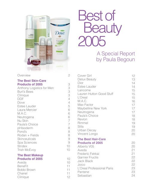 best of beauty 2005 - Cosmetics Cop