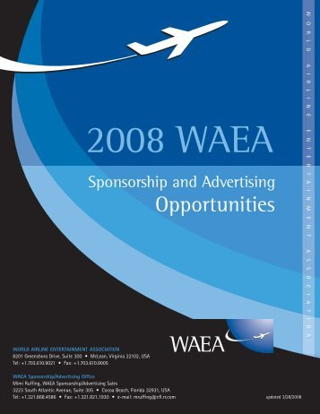 to download the 2008 WAEA Sponsorship and Advertising ...