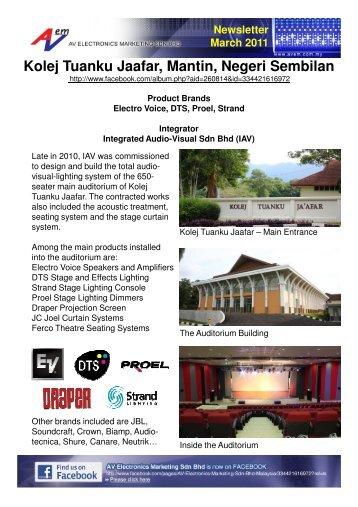 Kolej Tuanku Jaafar, Mantin, Negeri Sembilan - AV Electronics ...