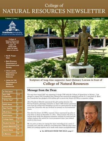 November 2011 - CNR Home - Utah State University