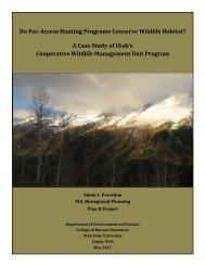 Do Fee-Access Hunting Programs Conserve Wildlife Habitat? A ...