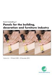 Panels for the building, decoration and furniture industry