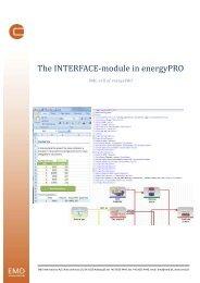 The INTERFACE-module in energyPRO - EMD International AS.