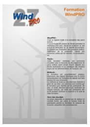 Formation WindPRO Fiche d'inscription