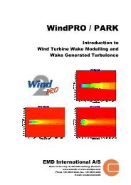 WindPRO / PARK - EMD International AS.