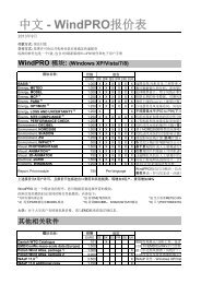 WindPRO中文版报价表