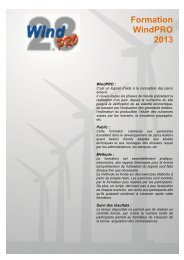 Formation WindPRO 2013