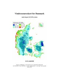 Vindressourcekort for Danmark GIS-format