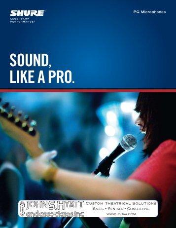 Shure PG Microphones Brochure