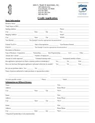 Credit Application - John S. Hyatt & Associates, Inc.