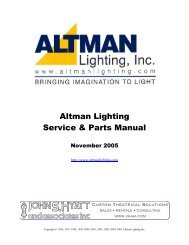 Service & Parts Manual 2005 .pdf format - Altman Lighting