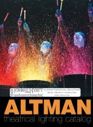 Theatrical Catalog - Altman Lighting
