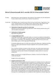 Referat fra bestyrelsesmøde den 8. november 2011 for ...