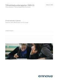 Tilfredshedsundersøgelse 2009-10 - Erhvervsakademi Sydvest