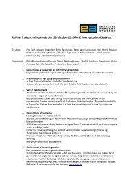 Referat fra bestyrelsesmøde den 28. oktober 2010 for ...