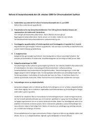 Referat til bestyrelsesmøde den 20. oktober 2009 for ...