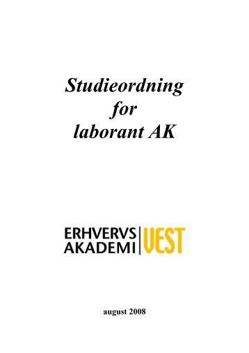 Studieordning for laborant AK