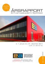 Årsrapport 2011 - Erhvervsakademi Sydvest