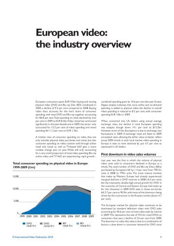 the Industry Overview 2010 - IVF - International Video Federation