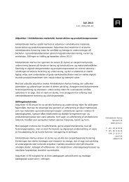 Adjunktur i Arkitekturens materiale, konstruktion og ...