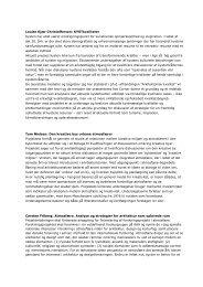 Læs nærmere beskrivelser af de fire forskningsprojekter