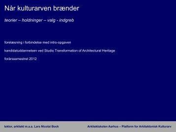 teorier – holdninger – valg - indgreb - Rum - Arkitektskolen Aarhus