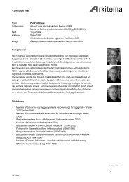 Curriculum vitae Navn Per Feldthaus Uddannelse Arkitekt maa ...