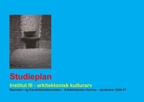 Studieplan - Arkitektskolen Aarhus