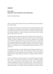 ABSTRACT Ph.D. thesis Restoration versus Instoration and ...