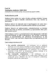 Unit 1b Studieplan studieåret 2009-2010 - Rum - Arkitektskolen ...