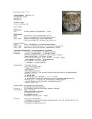 CURRICULUM VITAE - Rum - Arkitektskolen Aarhus