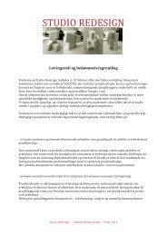 STUDIO REDESIGN - Rum - Arkitektskolen Aarhus