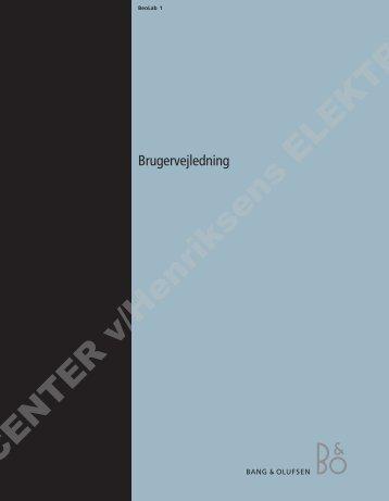 BeoLab 1 Dk.pdf - Henriksens Elektronik
