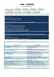 Rep.tips L2500, L2502, L2800, L2802, LX2500 ... - abo - center