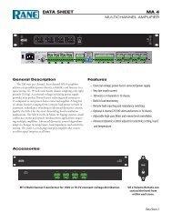MA 4 Data Sheet - Audio Tech