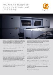 New industrial inkjet printer offering fine art quality and ... - Nautasign