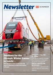 Swallows for the Olympic Winter Games in Sotchi P. 4 - DB Schenker