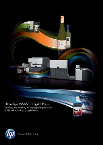 HP Indigo WS6600 Digital Press